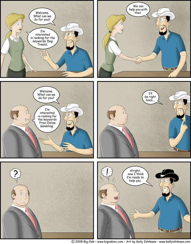 Black Hat SEO - Ranked Hard SEO Comic